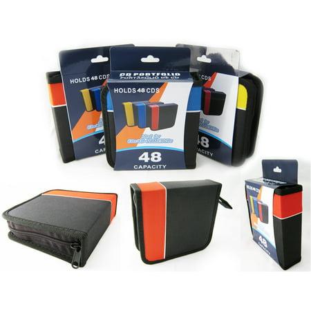 CD Holder DVD Case Storage Wallet Disc Media Book DJ Organizer Capacity 48 New (48 Capacity Cd / Dvd)