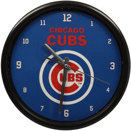 Chicago Cubs Black Rim Basic Clock - No Size
