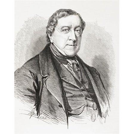 Gioachino Antonio Rossini 1792 Poster Print, 26 x 32 - Large - image 1 de 1