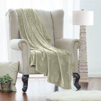 Queen Fleece Super Soft Warm Fuzzy Plush Couch Blanket, Extra Soft Brush Fabric, Lightweight Super Warm Bed Blanket (90-Inch-By-90-Inch) Sage Green, By Clara Clark