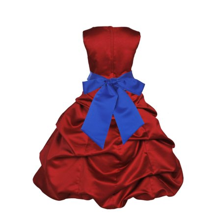 192c5e04ca7 Ekidsbridal Formal Satin Apple Red Flower Girl Dress Christmas Bridesmaid  Wedding Pageant Toddler Recital Easter Holiday Communion Birthday Baptism  ...