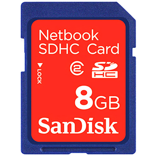 SanDisk 8GB SDHC Netbook Memory Card - Class 2