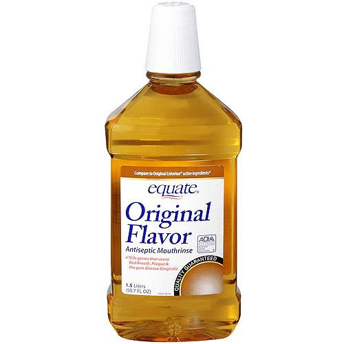 Equate Original Flavor Antiseptic Mouthrinse, 50.7 fl oz