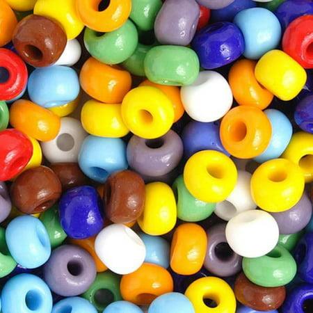 33/0 Opaque Assorted Czech Seed Beads 40 grams ()
