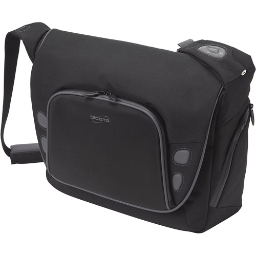 "DICOTA TakeControl 13.3"" Messenger Bag with iPod Controller, Black"