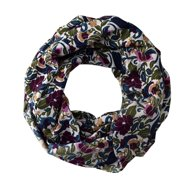Peach Couture Light Weight Trendy Floral Print Infinity Loop Circle Scarf
