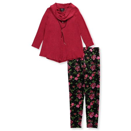 Big Girls' Plus Size 2-Piece Outfit with Choker (Sizes 10.5 - 20.5)