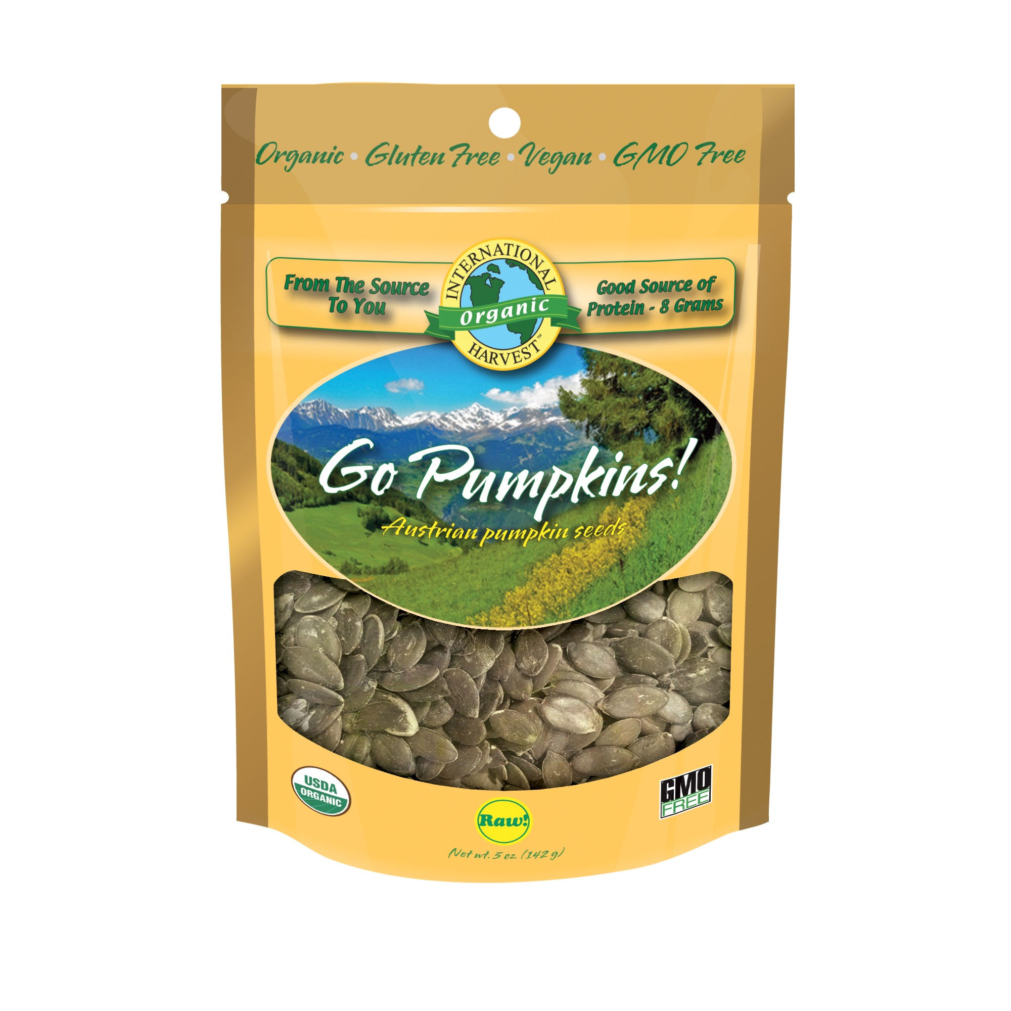 International Harvest Go Pumpkins, Austrian Pumpkin Seeds, 5 Oz