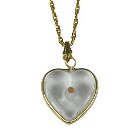 Mustard Seed Heart Capsule Pendant Necklace Christian Scripture Matthew 17:20](Mustard Seed Necklace)
