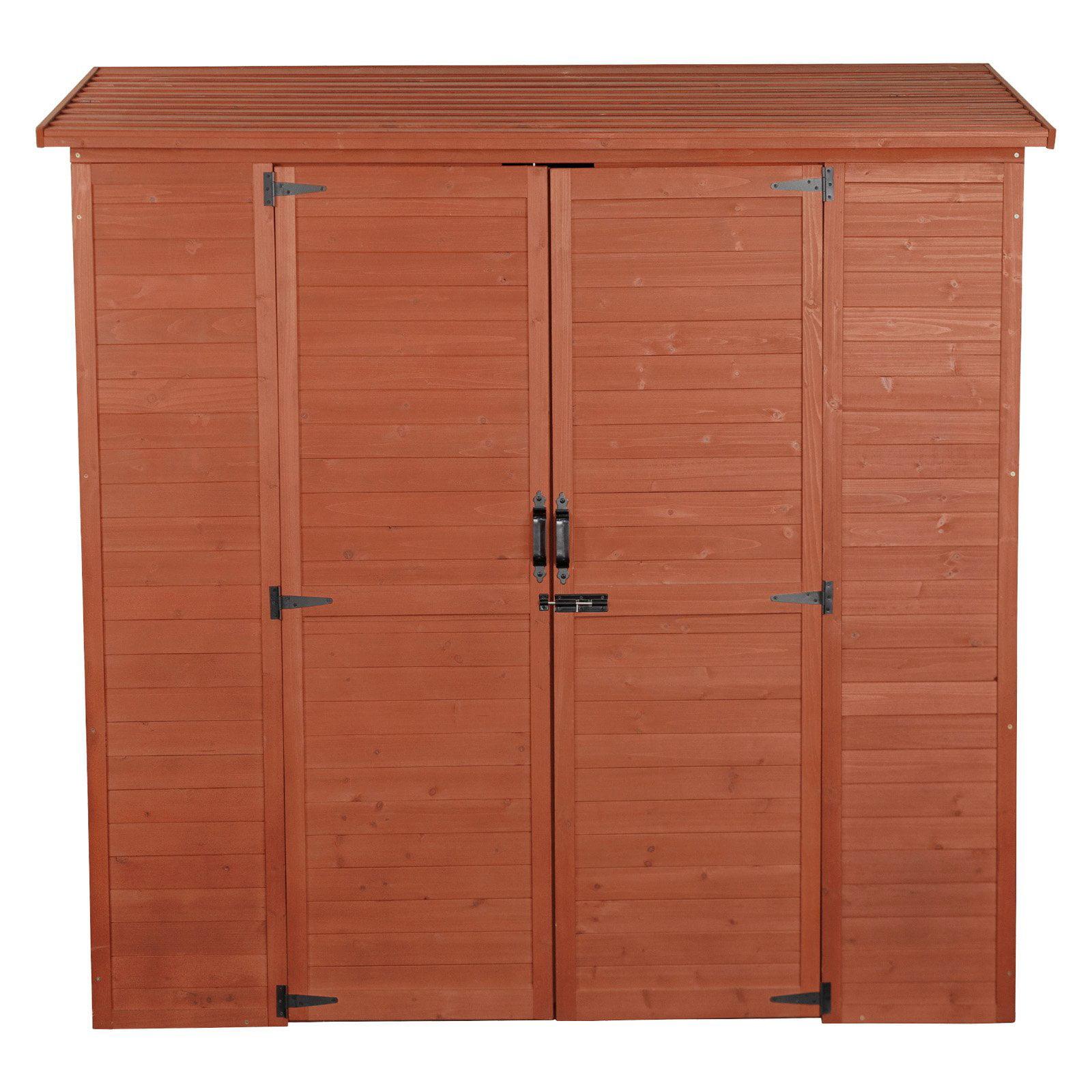 Leisure Season Extra-Large Storage Shed, Medium Brown