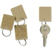 MMF Hook/Loop Key Tags, Tan, 12 / Pack (Quantity)