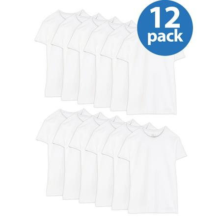 Fruit of the Loom Men's Dual Defense White Crew T-Shirts, 12 (Fruit Of The Loom White T Shirts Wholesale)