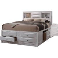 Acme Ireland King Storage Bed, White, Box 2 of 4