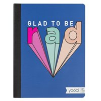 Yoobi Glad To Be Rad College Ruled Composition Book