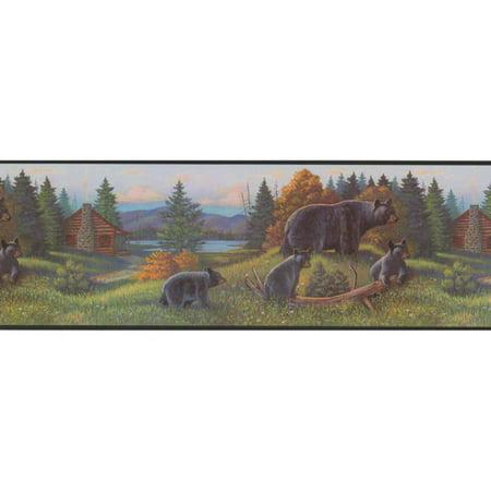 Portfolio Wallpaper - York Wallcoverings Portfolio II 15' x 9'' Bear Border Wallpaper