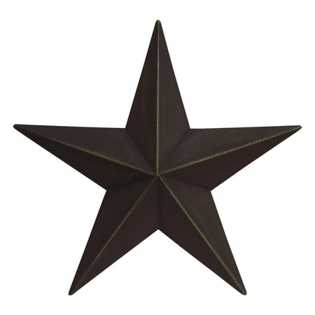 - Metal Barn Star Primitive Tin Black, Red, Ivory, or Colonial