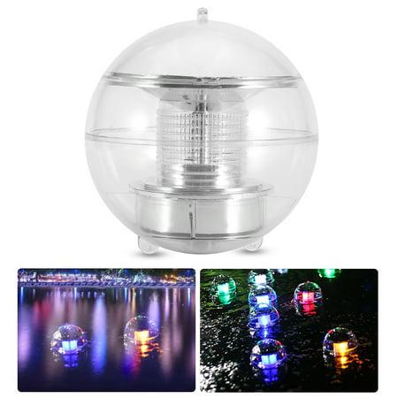 Image of Zaqw Waterproof Solar Powered LED Floating Ball Lamp Decor Light for Swimming Pool Garden, Solar Pool Light, LED Solar Light