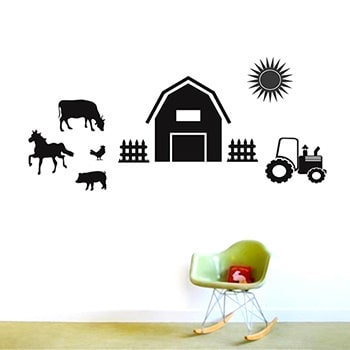 Farm Set Wall Decals MUSTARD