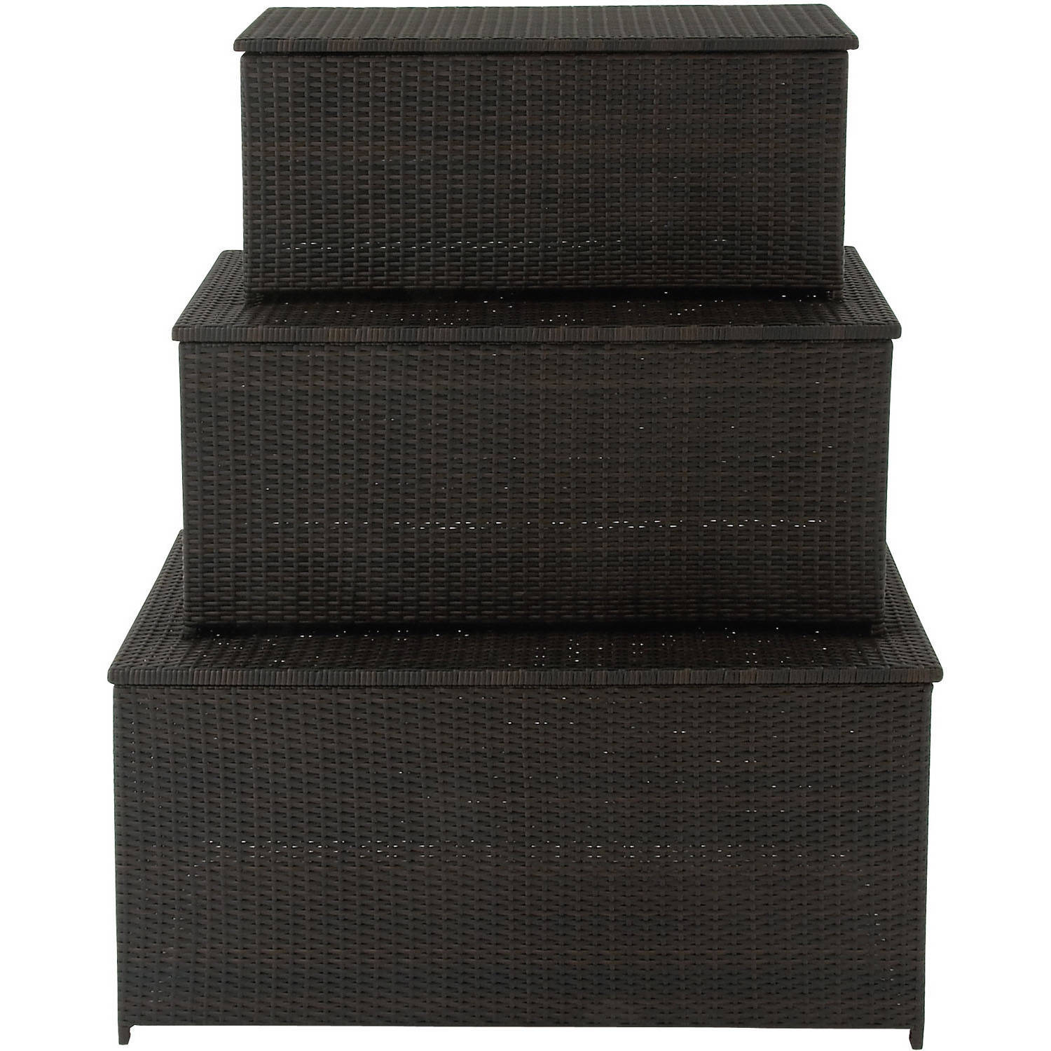 Hanover Outdoor Hanover 3-in-1 Deck Box Set for Outdoor Storage by Hanover Outdoor