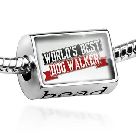 Bead Worlds Best Dog Walker Charm Fits All European Bracelets