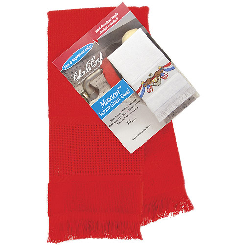 Charles Craft Maxton Velour Guest Towel