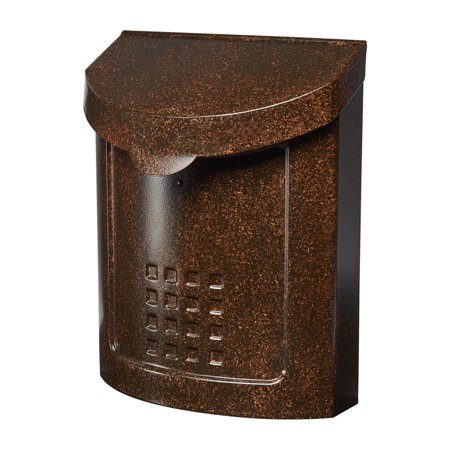 Gibraltar Mailboxes Lockhart Locking Medium Capacity Galvanized Steel Aged Copper Wall Mount Mailbox, -