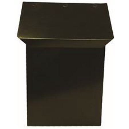 MAILBOX VERTICAL HARDENED STEEL BLACK SATIN (Verticle Mail Box)