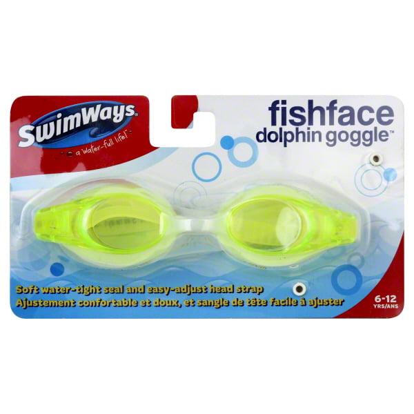 SwimWays Fish Face Dolphin Kids Swim Goggles