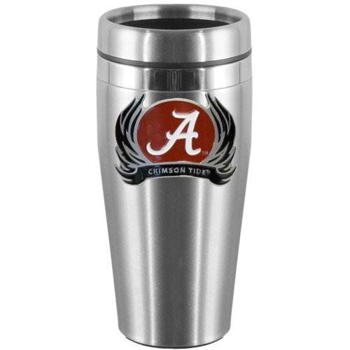 Alabama Steel Travel Mug Tribal Flames