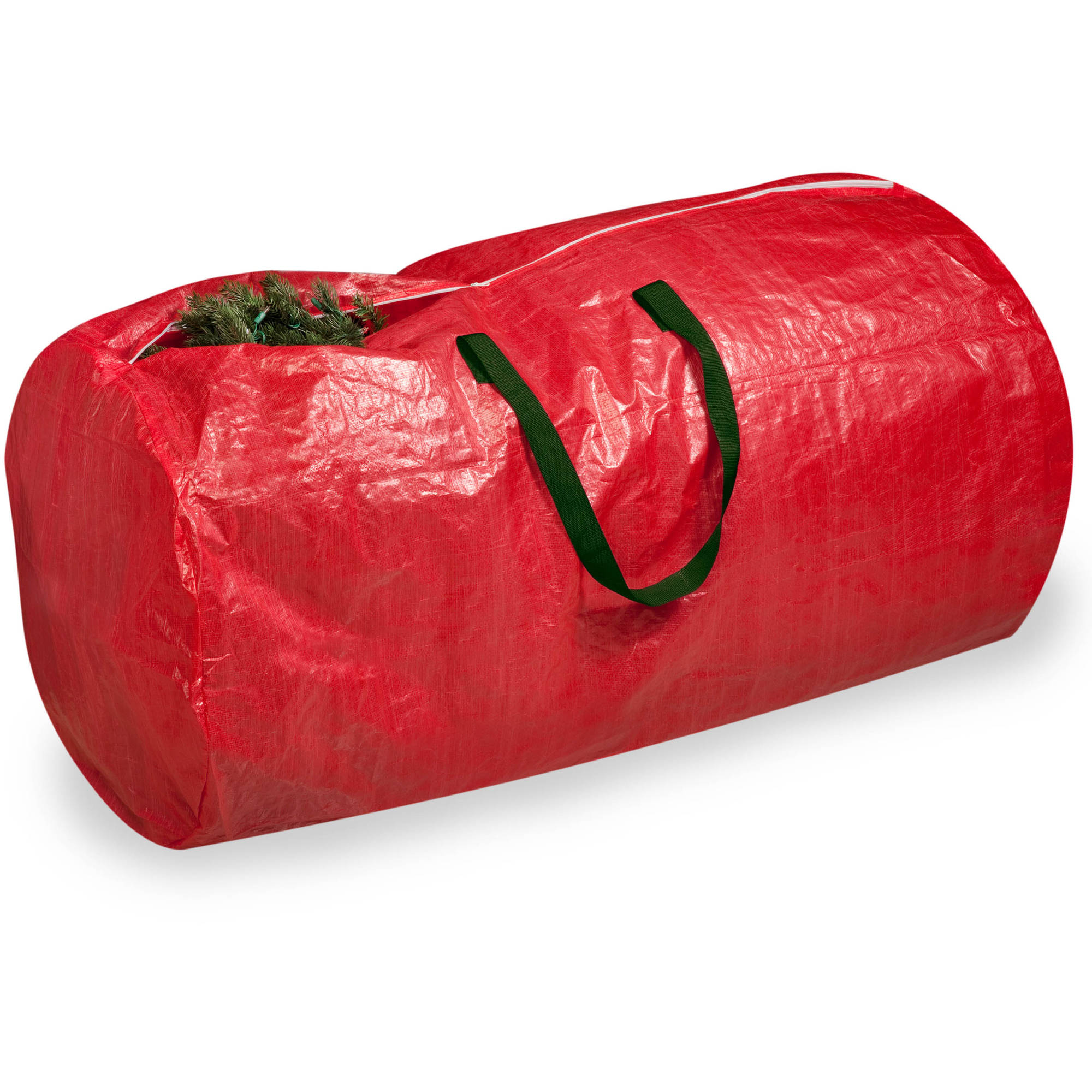 Honey Can Do Christmas Tree Storage Bag with Handles, Red/Green