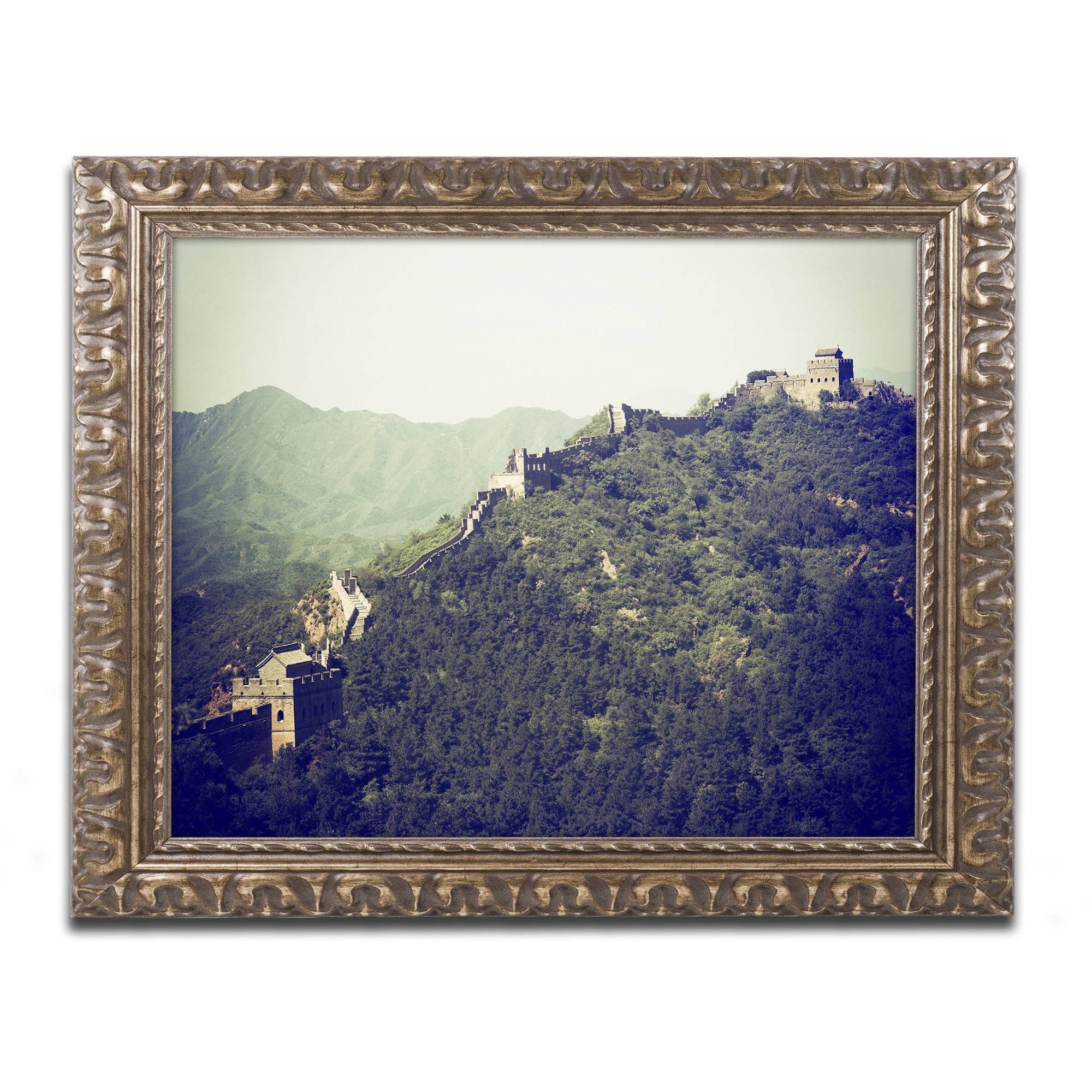 "Trademark Fine Art ""Great Wall"" Canvas Art by Philippe Hugonnard, Gold Ornate Frame"