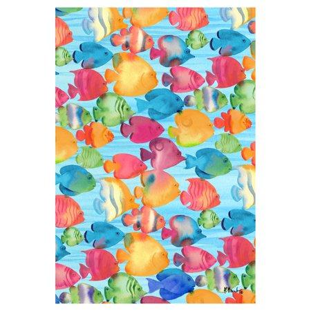 Toland Home Garden Fabulous Fishes Flag ()