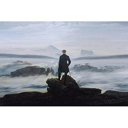 Wanderer Above the Sea of Fog 1818 by Caspar David Friedrich 36x24 Giclee Edition Museum Art Print Poster (Wanderer Above The Sea Of Fog Print)