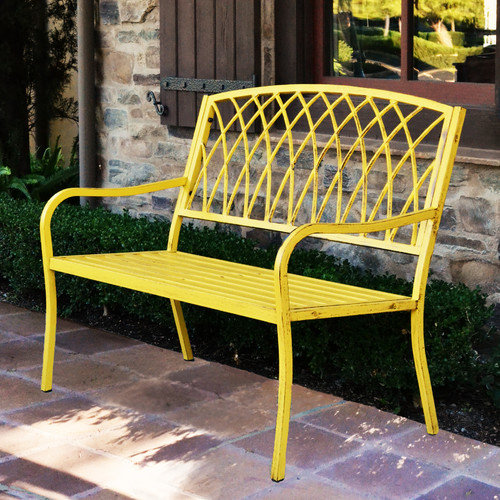 Innova Hearth and Home Lancaster Steel Park Bench