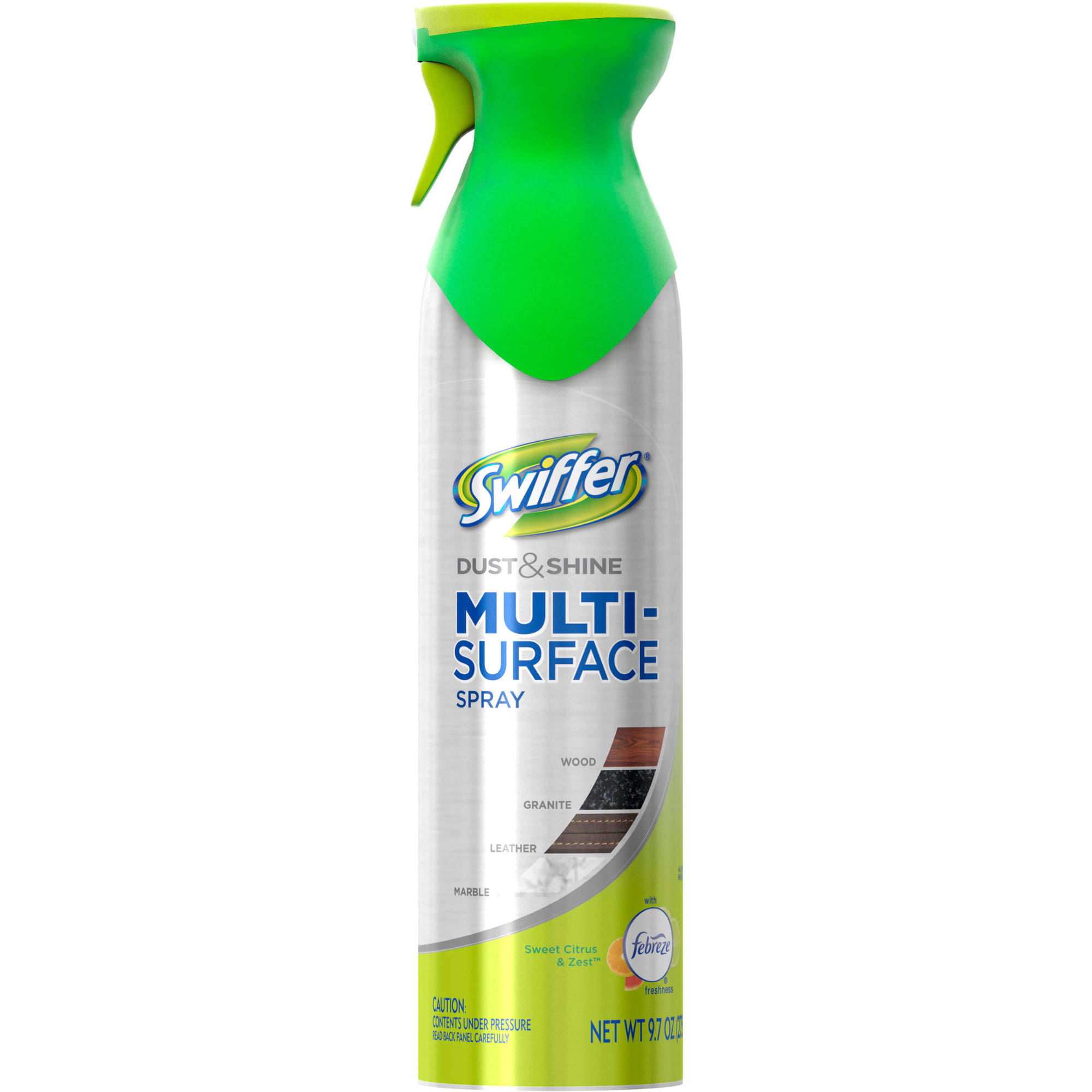 Swiffer Dust & Shine Furniture Polish Cleaner Febreze Citrus & Light Scent, 9.7 oz