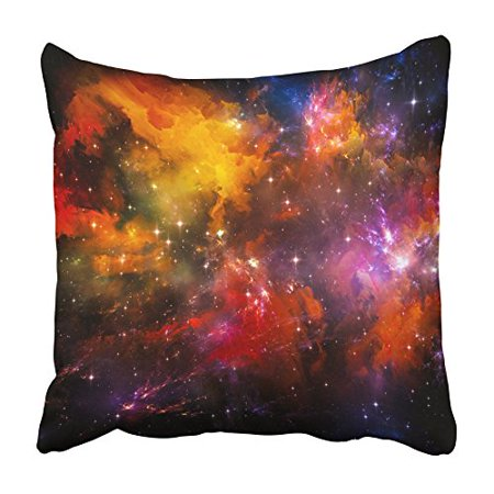 CMFUN Universe Is Not Enough Series Composed of Fractal Lights and As Metaphor on the Pillowcase Cushion Cover 16x16 inch