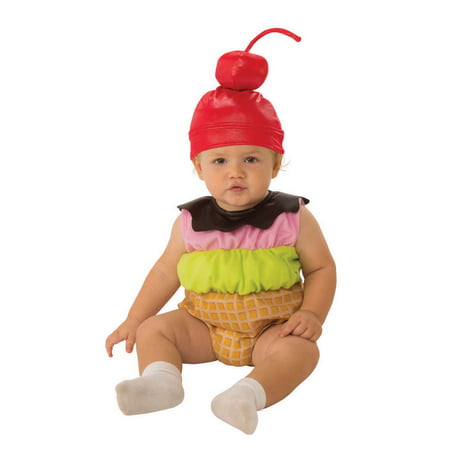 Ice Cream Cone Romper - Infant Costume](Safety Cone Costume)