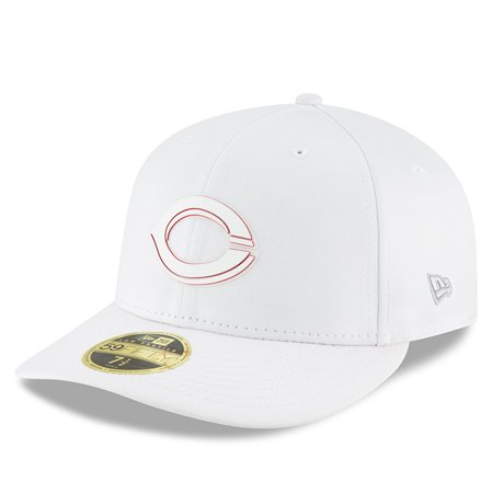 Cincinnati Reds New Era 2018 Clubhouse Collection Low Profile 59FIFTY Fitted Hat - White (Mlb Clubhouse)