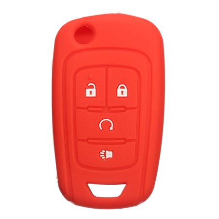 Silicone 4 Button Flip Remote Key Case Fob Protect Cover Fob Cover Holder  For Chevrolet GM
