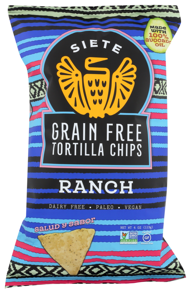 (12 Pack) Siete - Tortilla Chip Ranch , 4 OZ