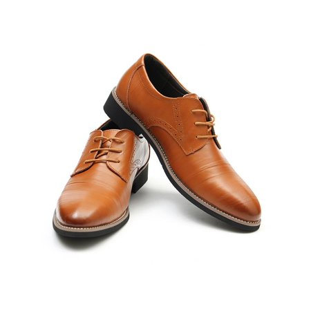 New European style Genuine leather Business Men's oxfords Casual Dress Shoes