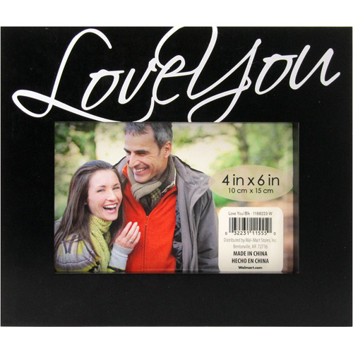 """Expression """"Love You"""" 4x6 Picture Frame"""