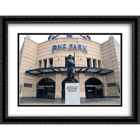 Pnc Park 2X Matted 36X28 Large Black Ornate Framed Art Print From The Stadium Series