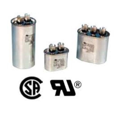 Edgewater Parts 440 Volt Round Run Capacitor 50 MFD FOR CENTRAL AIR CONDITIONER Air Conditioning Run Capacitor