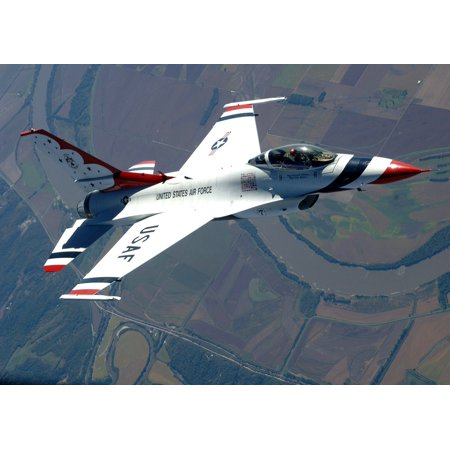 Canvas Print Air Force Jet Thunderbirds USA Military Flying Stretched Canvas 10 x 14 - Jets Flying