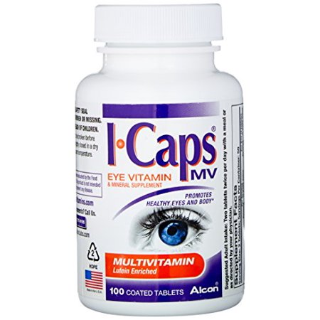 4 Pack Alcon ICaps Multivitamin Eye Vitamin & Mineral Support 100 tablets