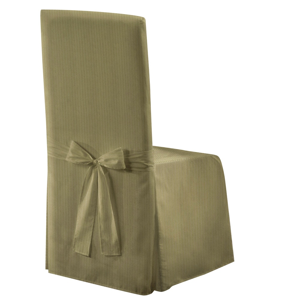 "METRO 19"" X 18"" X 39"" DECORATIVE DINING ROOM CHAIR COVER SAGE"