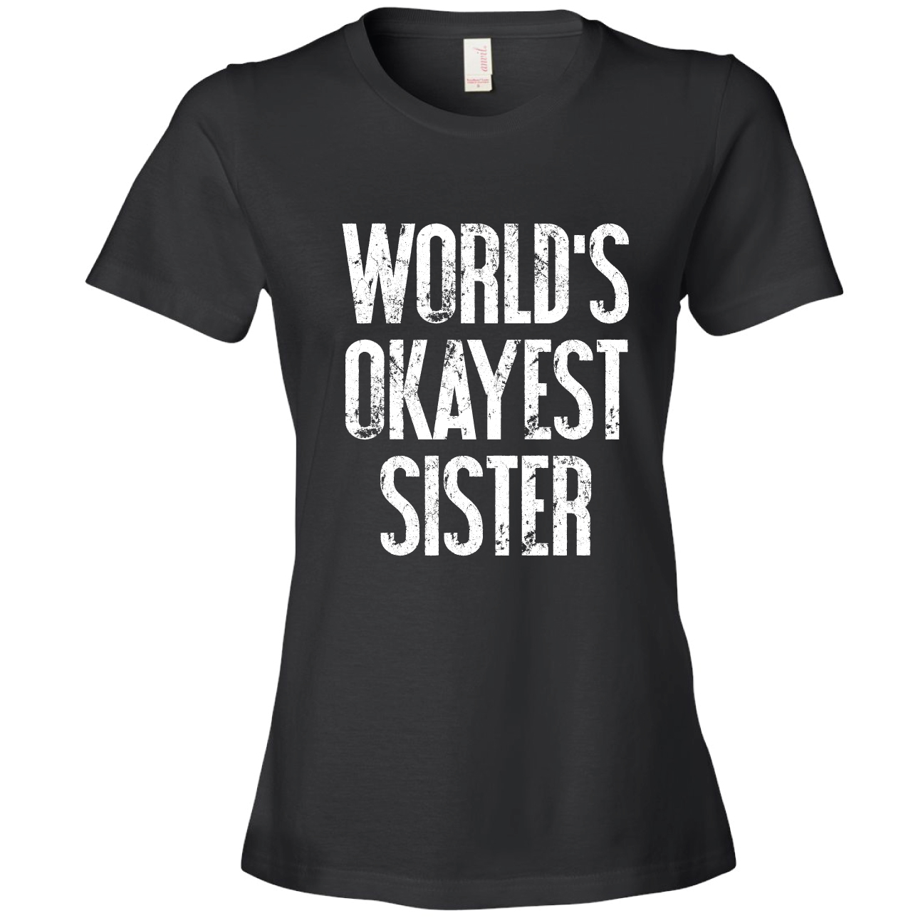 98babd2df Feisty and Fabulous - Brand: World's Okayest Sister T-Shirt, Funny Gift,  Gray Large - Walmart.com