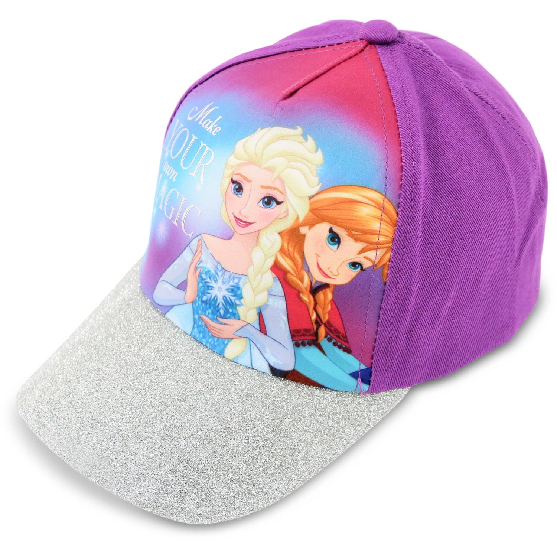 Disney - Little Girls Frozen Elsa and Anna Cotton Baseball Cap - Walmart.com 11ae8c0a7a1