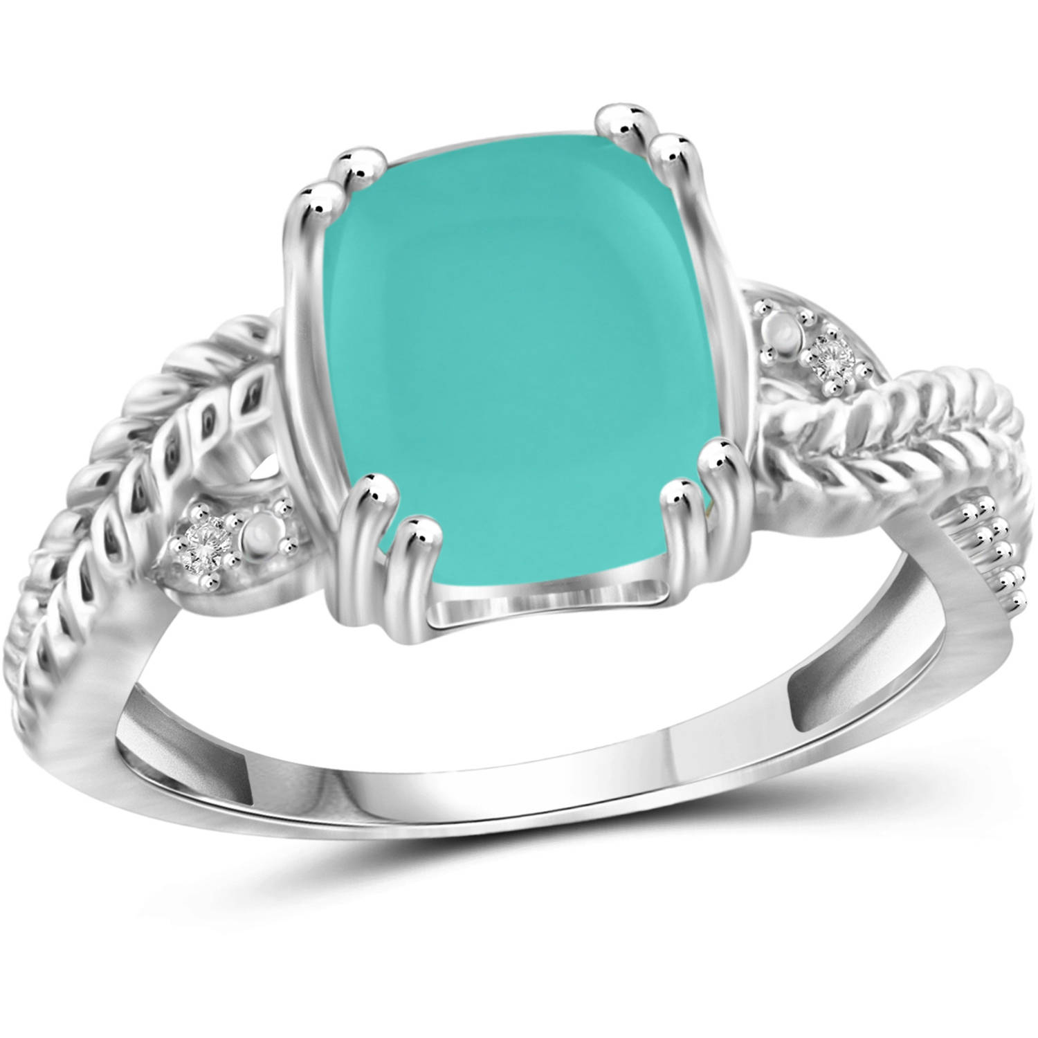JewelersClub 2-3 4 Carat T.G.W. Chalcedony and White Diamond Accent Sterling Silver Fashion Ring by JewelersClub